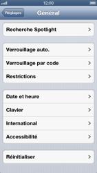 Apple iPhone 5 - Appareil - Réinitialisation de la configuration d