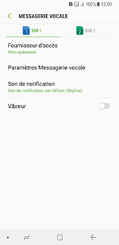 Samsung Galaxy A8 (2018) - Messagerie vocale - configuration manuelle - Étape 8