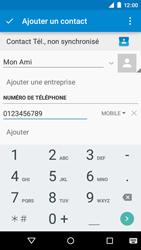 Motorola Moto E (1st Gen) (Lollipop) - Contact, Appels, SMS/MMS - Ajouter un contact - Étape 7