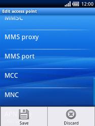 Sony Ericsson Xperia X10 Mini - Mms - Manual configuration - Step 11