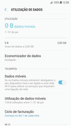 Samsung Galaxy S7 - Android Nougat - Internet no telemóvel - Como ativar os dados móveis -  7
