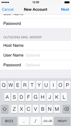 Apple iPhone 5s - E-mail - Manual configuration - Step 14