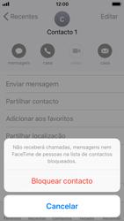 Apple iPhone SE - iOS 11 - Chamadas - Como bloquear chamadas de um número -  6