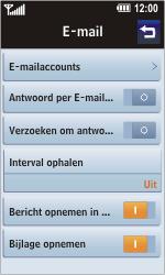 LG KM900 Arena - E-mail - Handmatig instellen - Stap 6
