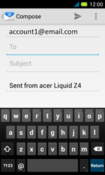 Acer Liquid Z4 - Email - Sending an email message - Step 5