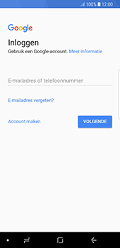 Samsung Galaxy S8 - Android Oreo - Applicaties - Account instellen - Stap 4