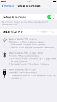 Apple iPhone 7 Plus - Internet et connexion - Utiliser le mode modem par USB - Étape 8