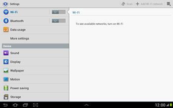 Samsung N8000 Galaxy Note 10-1 - Internet - Enable or disable - Step 4