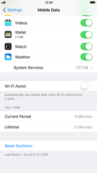 Apple iPhone 6 Plus - iOS 11 - Internet - Disable WiFi Assist - Step 6