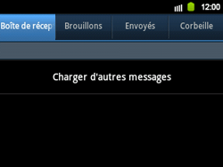 Samsung B5510 Galaxy TXT - E-mail - envoyer un e-mail - Étape 3