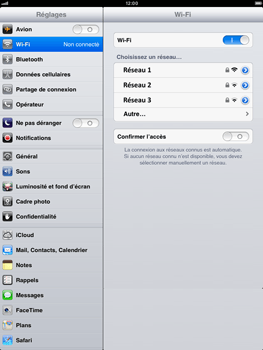 Apple iPad mini - Wifi - configuration manuelle - Étape 4