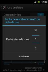 Sony Xperia E - Internet - Ver uso de datos - Paso 7