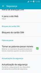 Samsung Galaxy S4 LTE - Segurança - Como ativar o código PIN do cartão de telemóvel -  6