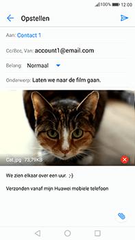 Huawei Mate 9 - E-mail - Hoe te versturen - Stap 15