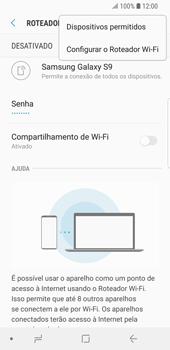 Samsung Galaxy S9 - Wi-Fi - Como usar seu aparelho como um roteador de rede wi-fi - Etapa 9