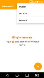 LG K4 (2017) - Mensajería - Configurar el equipo para mensajes de texto - Paso 4