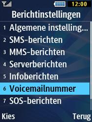 Samsung B2710 Xcover 271 - Voicemail - Handmatig instellen - Stap 6