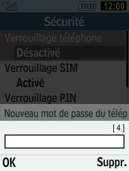 Samsung C3590 - Sécuriser votre mobile - Activer le code de verrouillage - Étape 8