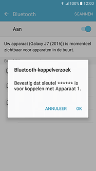 Samsung J710 Samsung Galaxy J7 (2016) - Bluetooth - headset, carkit verbinding - Stap 7