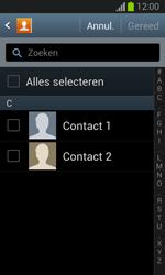 Samsung S7390 Galaxy Trend Lite - Contacten en data - Contacten kopiëren van toestel naar SIM - Stap 7