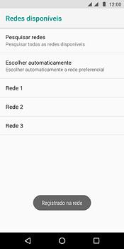 Motorola Moto E5 - Rede móvel - Como selecionar o tipo de rede adequada - Etapa 12