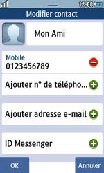 Samsung Wave 723 - Contact, Appels, SMS/MMS - Ajouter un contact - Étape 12