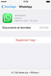 Apple iPhone 4S (iOS 8) - Applications - Supprimer une application - Étape 7