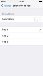 Apple iPhone SE - Red - Seleccionar una red - Paso 7