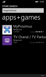 Nokia Lumia 530 - Applications - MyProximus - Step 7