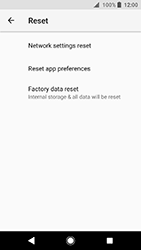 Sony Xperia XA2 - Device - Reset to factory settings - Step 7