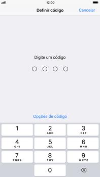 Apple iPhone 7 Plus iOS 11 - Segurança - Como ativar o código de bloqueio do ecrã -  7