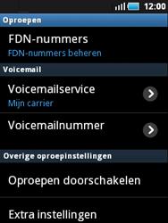 Samsung S5570 Galaxy Mini - Voicemail - Handmatig instellen - Stap 5