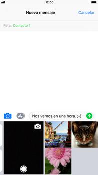 Apple iPhone 7 Plus iOS 11 - Mensajería - Escribir y enviar un mensaje multimedia - Paso 10