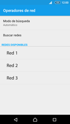 Sony Xperia Z5 Compact - Red - Seleccionar una red - Paso 8