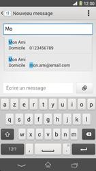 Sony Xpéria Z1 - Contact, Appels, SMS/MMS - Envoyer un SMS - Étape 6