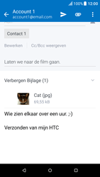 HTC One M9 - Android Nougat - E-mail - hoe te versturen - Stap 16