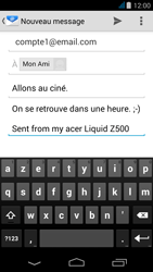 Acer Liquid Z500 - E-mail - envoyer un e-mail - Étape 8