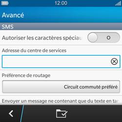 BlackBerry Q5 - SMS - configuration manuelle - Étape 9