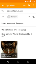 Alcatel Idol 3 (4.7) (OT-6039Y) - E-mail - Bericht met attachment versturen - Stap 15