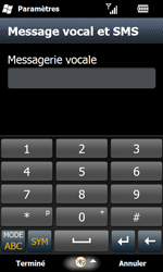 Samsung I8000 Omnia II - Messagerie vocale - configuration manuelle - Étape 8