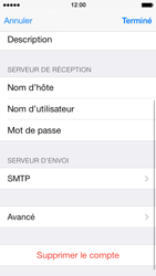Apple iPhone 5 iOS 7 - E-mail - Configuration manuelle - Étape 20