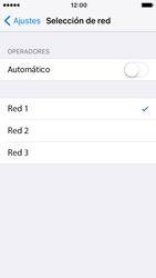Apple iPhone SE iOS 10 - Red - Seleccionar una red - Paso 7