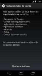 Motorola Moto X (2014) - Funções básicas - Como restaurar as configurações originais do seu aparelho - Etapa 8