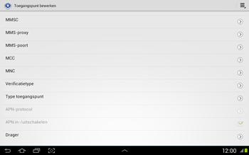 Samsung N8020 Galaxy Note 10-1 LTE - Internet - Handmatig instellen - Stap 11