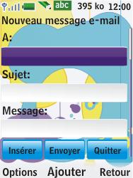 Nokia 7310 supernova - E-mail - Envoi d
