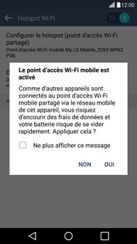 LG G4 - Internet et connexion - Partager votre connexion en Wi-Fi - Étape 9
