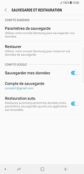 Samsung N950F Galaxy Note 8 - Device maintenance - Back up - Étape 11
