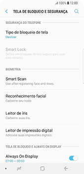 Samsung Galaxy S9 - Segurança - Como ativar o código de bloqueio do ecrã -  5