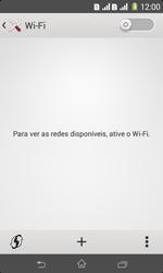 Sony D2105 Xperia E1 Dual - Wi-Fi - Como configurar uma rede wi fi - Etapa 5
