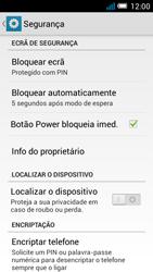 Alcatel POP C7 - Segurança - Como ativar o código de bloqueio do ecrã -  11